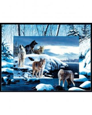 Puzzle SunsOut - Kevin Daniel: Ice Wolves, 1.000 piese (Sunsout-55763)