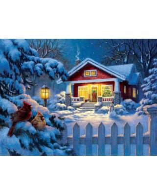 Puzzle SunsOut - Corbert Gauthier: Christmas Bungalow, 1.000 piese (Sunsout-55989)