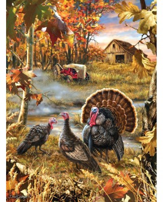 Puzzle SunsOut - Dona Gelsinger: Turkey Ranch, 1.000 piese (Sunsout-57168)