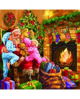 Puzzle SunsOut - Marcello Corti: Everyone Loves Santa, 1.000 piese (Sunsout-60649)