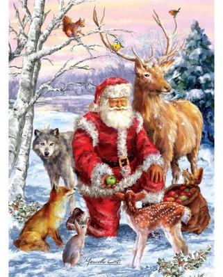 Puzzle SunsOut - Marcello Corti: Santa's Menagerie, 1000 piese (Sunsout-60661)
