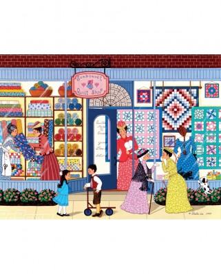 Puzzle SunsOut - Shelia Lee: SunBonnet Quilt Shop, 1.000 piese (Sunsout-61304)