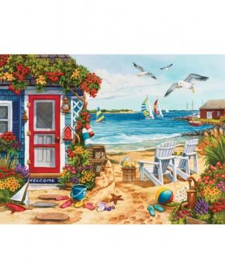 Puzzle SunsOut - Nancy Wernersbach: Beach Summer Cottage, 1.000 piese (Sunsout-62924)