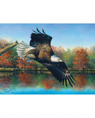Puzzle SunsOut - Abraham Hunter: Wetlands Eagle, 1.000 piese (Sunsout-69607)