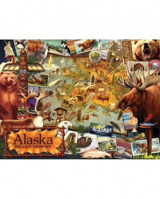 Puzzle SunsOut - Ward Thacker Studio: Alaska, The Final Frontier, 1.000 piese (Sunsout-70016)