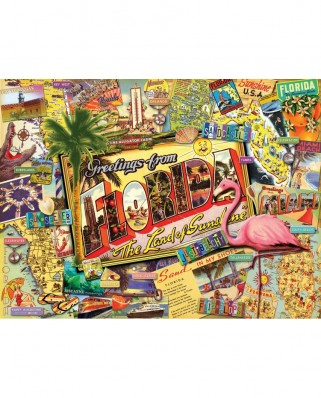 Puzzle SunsOut - Ward Thacker Studio: Florida, 1.000 piese (Sunsout-70021)