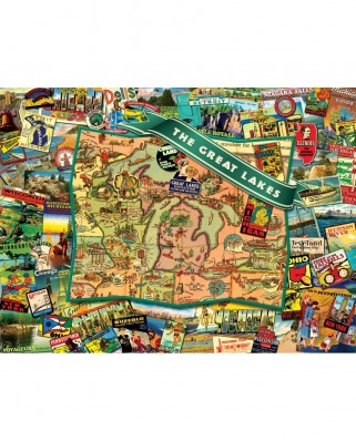 Puzzle SunsOut - Ward Thacker Studio: Great Lakes, 1.000 piese (Sunsout-70022)