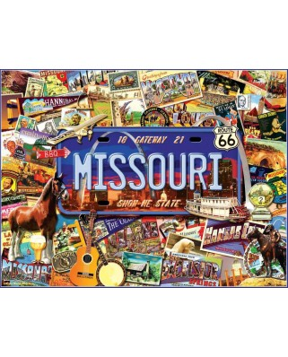 Puzzle SunsOut - Kate Ward Thacker: Missouri - The 'Show Me' State, 1.000 piese (Sunsout-70038)