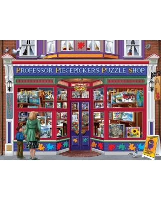 Puzzle SunsOut - Bigalow Illustrations - Professor Puzzle Shop, 1000 piese (Sunsout-70615)