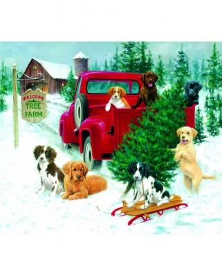 Puzzle SunsOut - Jim Killen: Christmas Tree Farm, 550 piese (Sunsout-73419)