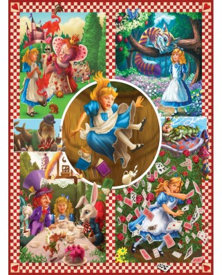 Puzzle SunsOut - Mark Brill: Alice in Wonderland, 1.000 piese (Sunsout-75280)