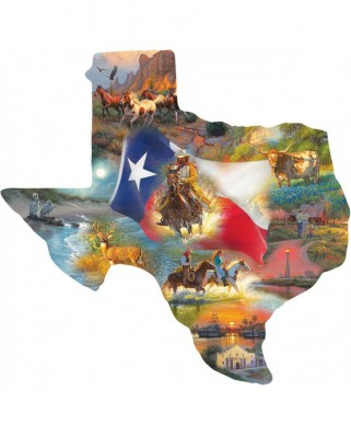 Puzzle contur SunsOut - Mark Keathley: Images of Texas, 1.000 piese XXL (Sunsout-95030)