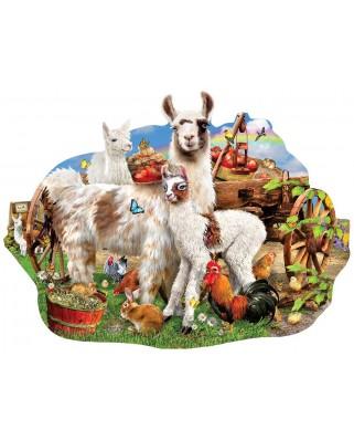 Puzzle SunsOut - Lori Schory: Llama farm, 1.000 piese (Sunsout-95077)