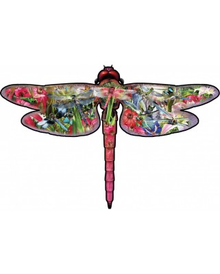 Puzzle contur SunsOut - David Penfound: Dragon Fly, 850 piese XXL (Sunsout-95208)