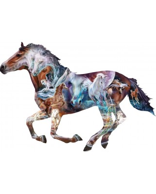 Puzzle contur SunsOut - The Mystery of the Horse, 800 piese XXL (Sunsout-95973)