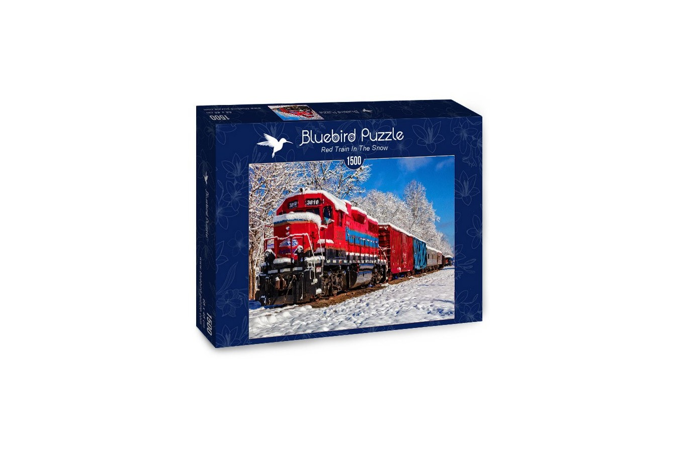 Puzzle Bluebird - Red Train In The Snow, 1500 piese (70282)