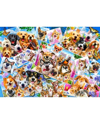 Puzzle Bluebird - Selfie Pet Collage, 1.000 piese (70283)