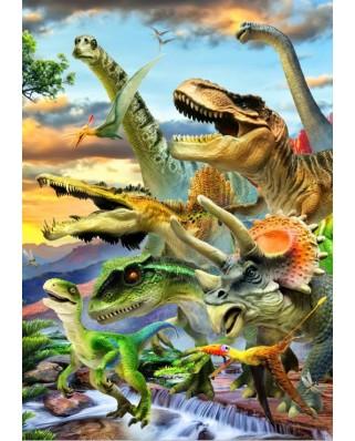 Puzzle Bluebird - Dino Sunset, 1000 piese (70287)