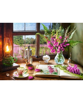 Puzzle Castorland - Still Life with Violet Snapdragons, 1000 piese (104345)