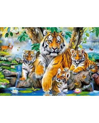 Puzzle Castorland - Tigers by the Stream, 1.000 piese (104413)