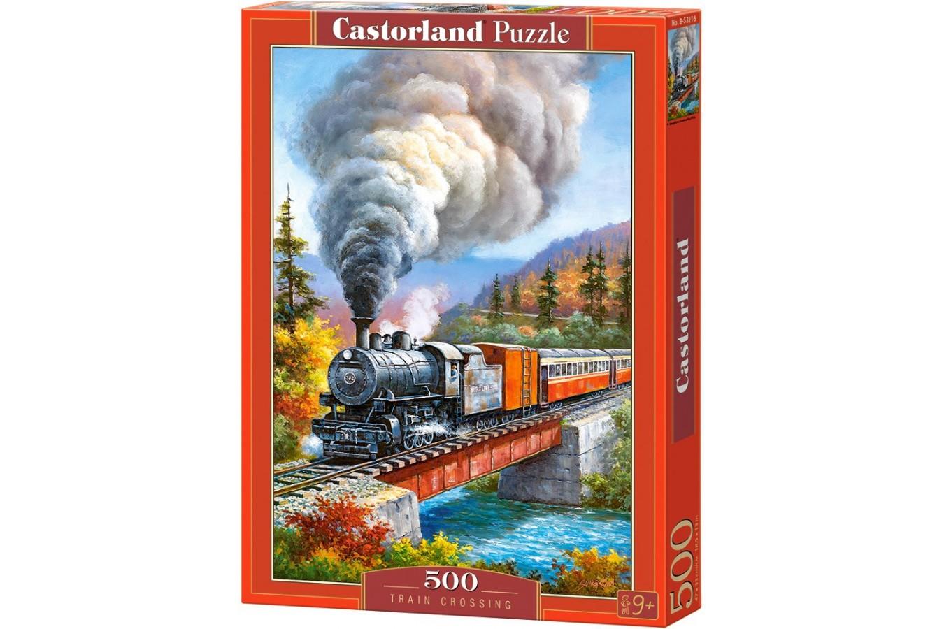 Puzzle Castorland - Train Crossing, 500 piese (53216)