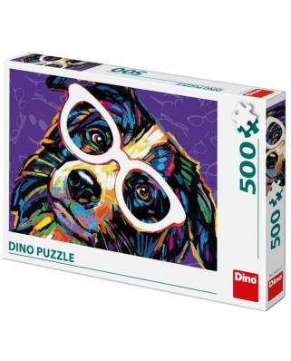 Puzzle Dino - Dog with Glasses, 500 piese (50235)