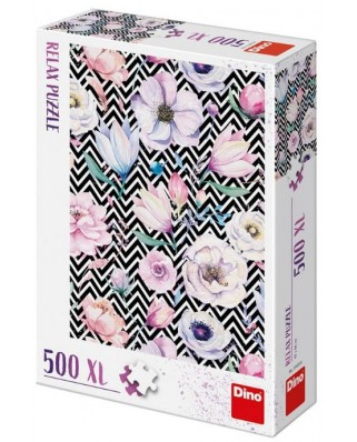 Puzzle Dino - Flowers, 500 piese XXL (51405)