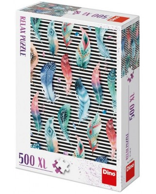 Puzzle Dino - Feathers, 500 piese XXL (51406)