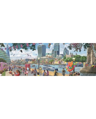 Puzzle panoramic Falcon - The River Thames, London, 1.000 piese (Jumbo-11161)