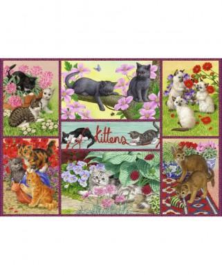 Puzzle Falcon - Playful Kittens, 500 piese (Jumbo-11211)