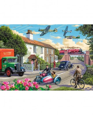 Puzzle Falcon - Wartime Morning, 1.000 piese (Jumbo-11221)