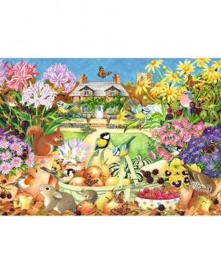 Puzzle Falcon - Autumn Garden, 1.000 piese (Jumbo-11222)