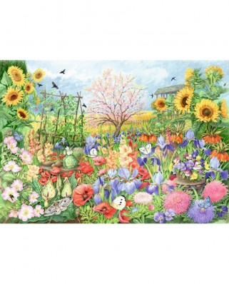 Puzzle Falcon - The Sunflower Garden, 1.000 piese (Jumbo-11224)