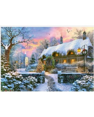 Puzzle Jumbo - The Whitesmith's Cottage in Winter, 1.000 piese (11227)