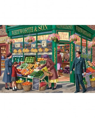 Puzzle Falcon - The Greengrocer, 1.000 piese (Jumbo-11232)