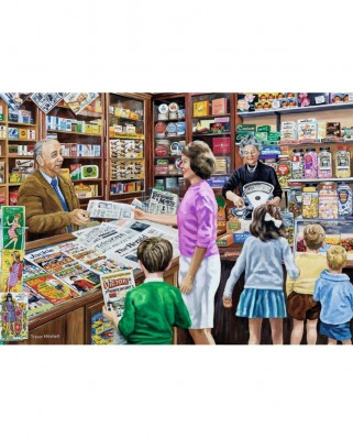 Puzzle Falcon - Sweets and Newspapers, 1.000 piese (Jumbo-11236)