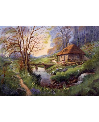 Puzzle Falcon - Cottage in the Woods, 1.000 piese (Jumbo-11243)