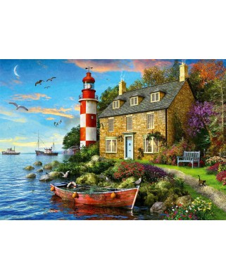 Puzzle Falcon - The Lighthouse Keeper's Cottage, 1000 piese (Jumbo-11247)