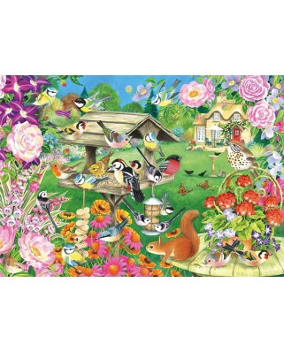 Puzzle Falcon - Summer Garden Birds, 500 piese (Jumbo-11253)