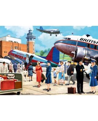Puzzle Falcon - Boarding the Douglas DC3, 500 piese (Jumbo-11258)