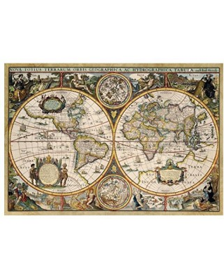 Puzzle Jumbo - World Map from 1630, 1500 piese (18345)