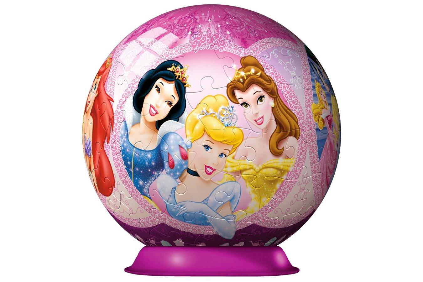 Puzzle glob Ravensburger - Printesele Disney, 108 piese (12208)