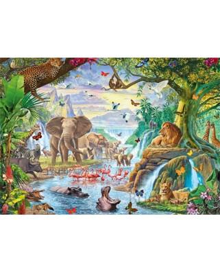 Puzzle Jumbo - Jungle Lake, 500 piese XXL (18800)