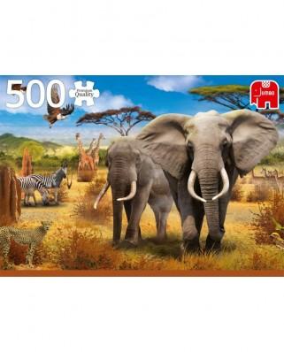 Puzzle Jumbo - African Savannah, 500 piese (18802)