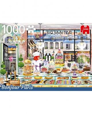 Puzzle Jumbo - Bonjour Paris, 1.000 piese (18807)