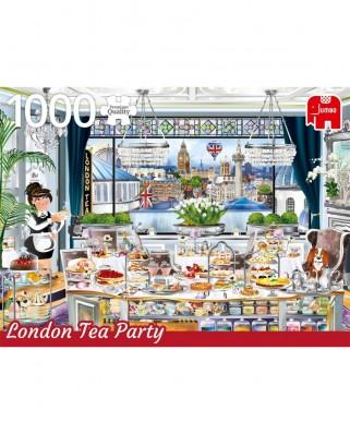 Puzzle Jumbo - London Tea Party, 1.000 piese (18808)