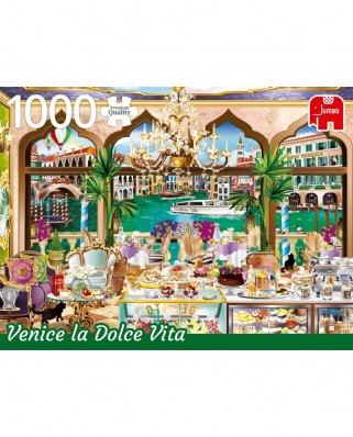 Puzzle Jumbo - Venice La Doce Vita, 1.000 piese (18809)