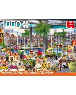 Puzzle Jumbo - Amsterdam Flower Market, 1.000 piese (18810)