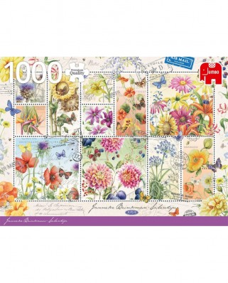 Puzzle Jumbo - Flower Stamps Summer, 1.000 piese (18812)