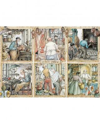Puzzle Jumbo - Anton Pieck: Craftmanship, 1.000 piese (18817)